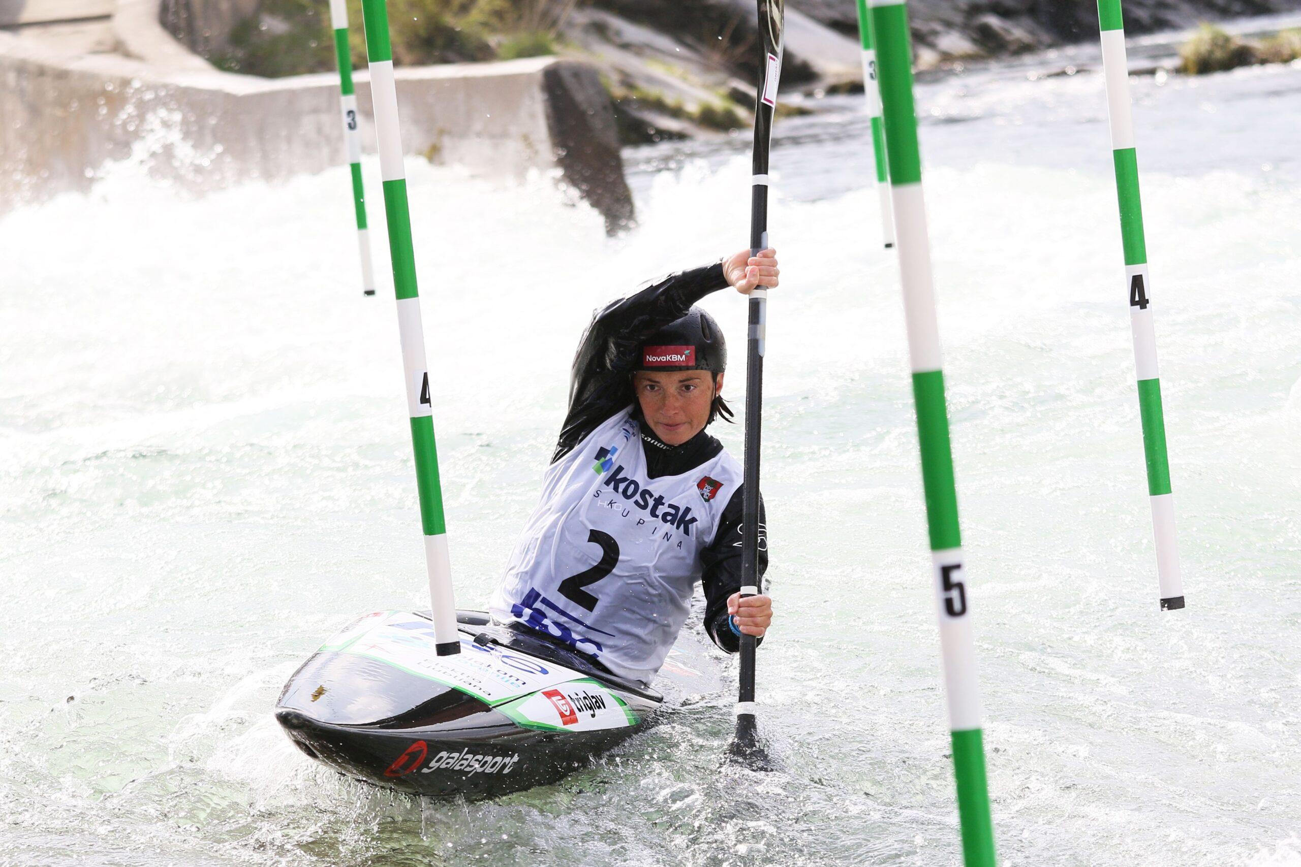 Olimpijka Eva Terčelj je zmagala v tekmi EP Tacen 2021